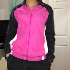 Reebok Pink & Grey Track Suit Set